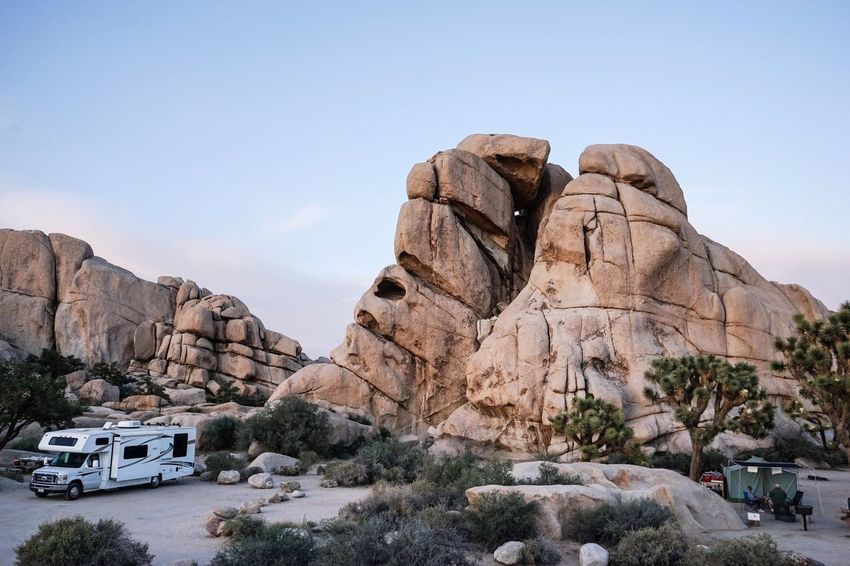 Neighbors Campground California Jumbo Rock Rocks Joshua Tree National Park Desert Outdoors Outdoor Photography Traveling Tranquil Scene Motorhome Tent Camping Dawn Rest California Love Finding New Frontiers The Great Outdoors An Eye For Travel California Dreamin