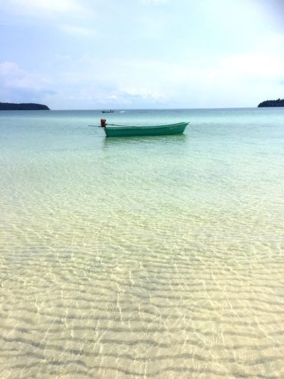 Water Sea Sky Beach Land Nautical Vessel Transportation Beauty In Nature Nature Scenics - Nature Day Horizon Over Water Mode Of Transportation Tranquility