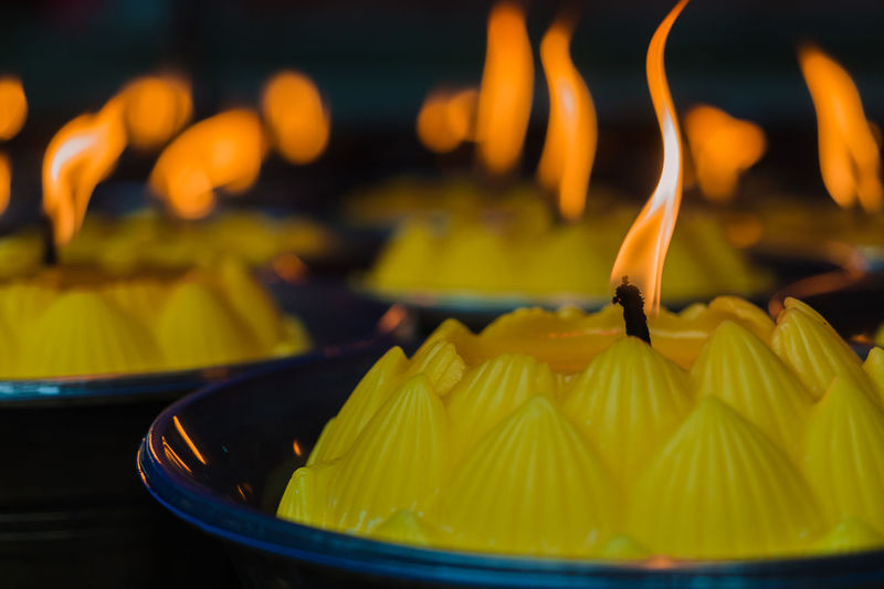 Bokeh Candle Close-up Day Flame Focus On Foreground Freshness Indoors  Light No People