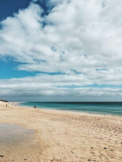 Beach Canarias Fuerteventura Sea Water Sky Land Beach Cloud - Sky Beauty In Nature Scenics - Nature Horizon Over Water Horizon Tranquility Nature Sand Trip Holiday