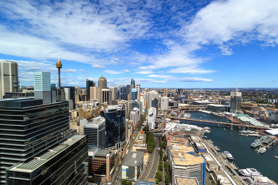 The Sydney skyline taken from Barangaroo Cityscape Architecture Building Exterior Built Structure City Cityscape Cloud - Sky Day Growth High Angle View Modern No People Outdoors Sky Skyscraper Tall Tower Travel Destinations Urban Skyline