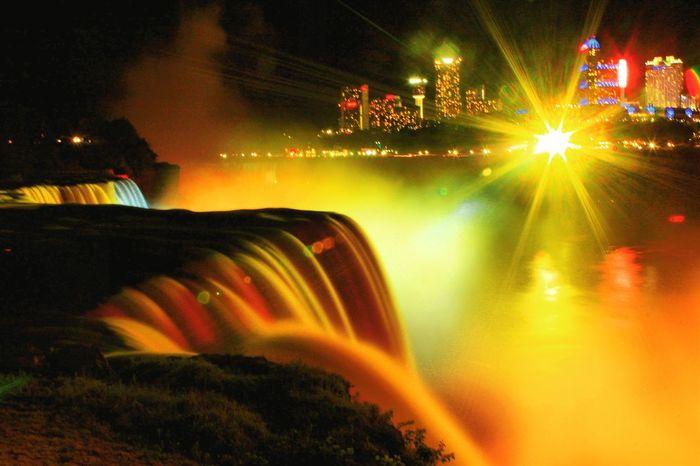 EyeEmNewHere Niagarafalls Illuminated Multi Colored Long Exposure Niagara Falls NY Vacation Destinations Outdoors Watershots Canonphotography Canon60d Second Acts Colour Your Horizn