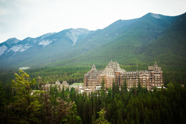 Banff Springs Hotel Beautiful Castle Architecture Beauty In Nature Building Exterior Built Structure Day Fairmpo Growth Landscape Luxury Mountain Nature No People Outdoors Sky Tree