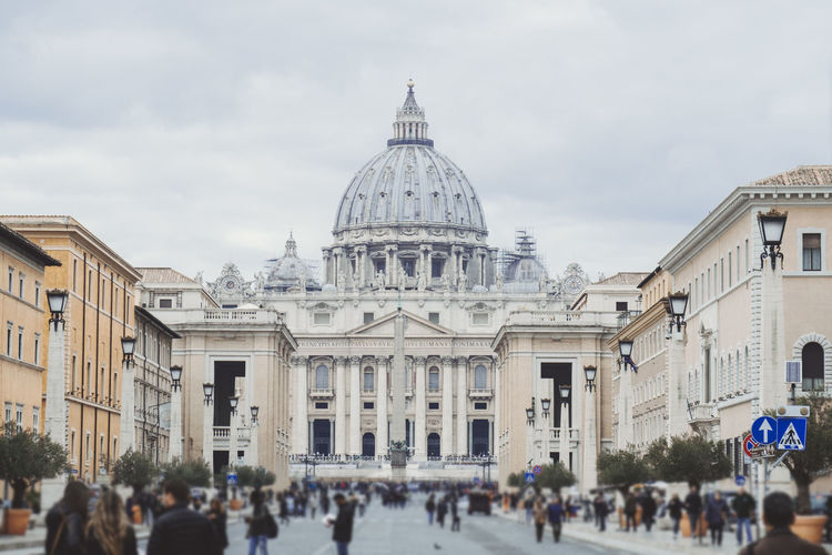 San Pietro In Vaticano Adult Architecture Building Exterior Built Structure Cloud - Sky Day Dome History Large Group Of People Men Outdoors People Place Of Worship Real People San Pietro Sky Tourism Travel Travel Destinations Women