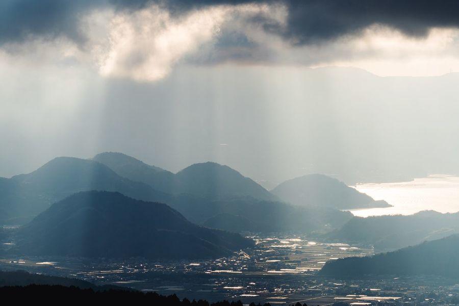 Light Curtain Evening Sky Clouds And Sky Skyline Landscape Landscape_Collection EyeEm Best Shots - Landscape Eye4photography  Sony Sony α♡Love Japanese Landscape Japan Scenery Hakone Shizuoka 箱根