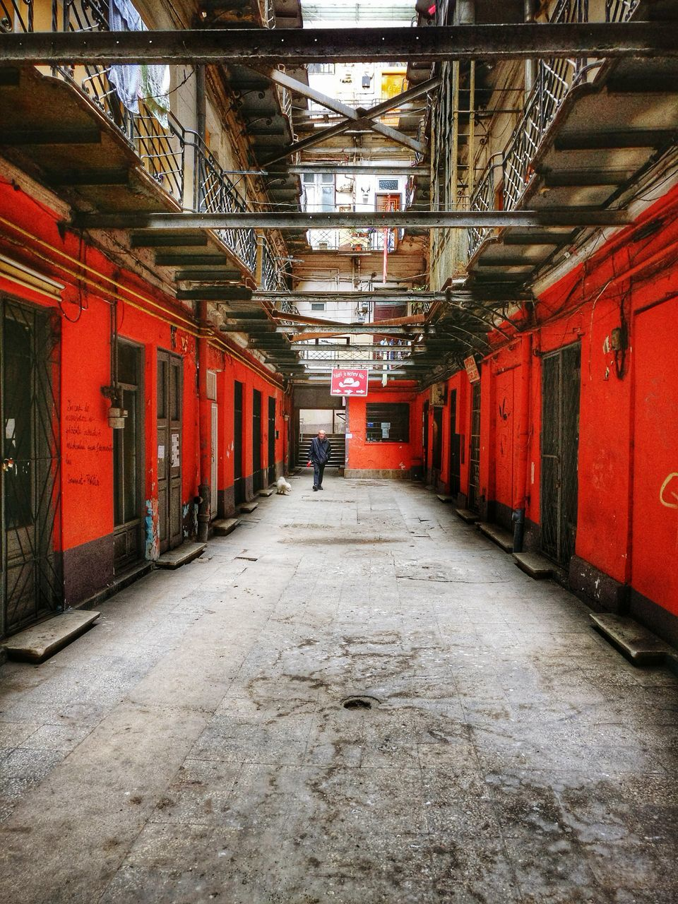 indoors, the way forward, red, architecture, built structure, no people, day