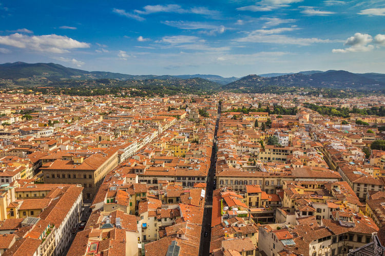 City of Florence Italy Florence Florence Italy Florence, Italy Firenze Firenze, Italy Architecture Building Exterior Built Structure Residential District Building Sky Cityscape Cloud - Sky City High Angle View Roof Nature Crowded Mountain Town Crowd Day Community House TOWNSCAPE Outdoors Roof Tile