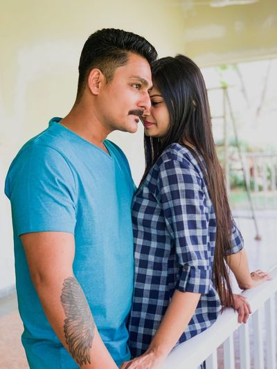 Couple goals Two People Togetherness Couple - Relationship Love Heterosexual Couple Bonding Men Women Emotion Young Men Positive Emotion Young Adult Adult Casual Clothing Connection People Young Women Indoors  Romance Standing