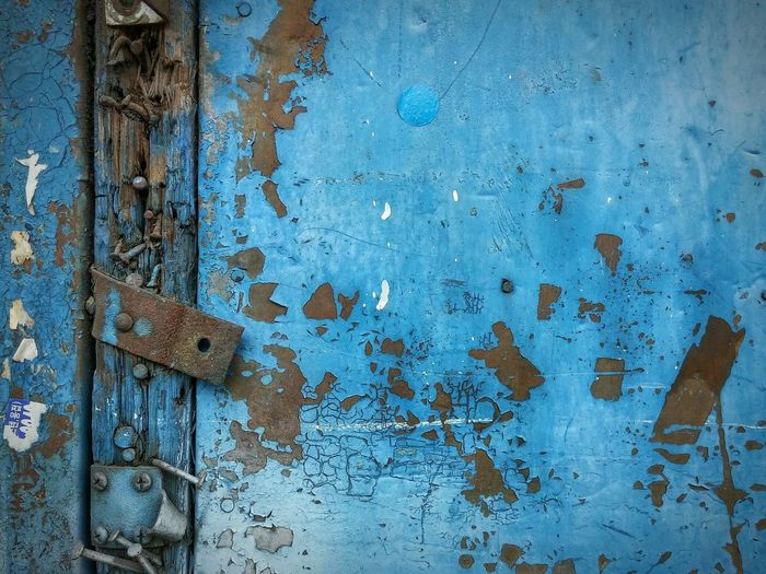 Wall Wood Blue Rusty Rust Day Steel Nopeople Phuket,Thailand