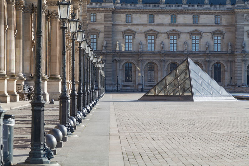 EyeEm Selects Architecture History Built Structure Day Outdoors Travel Destinations No People Building Exterior Paris France Louvre Nobody City Urban Courtyard  Museum Pyramid Glass Historic Palace Urban