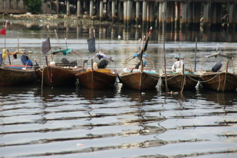 Boats in a lake