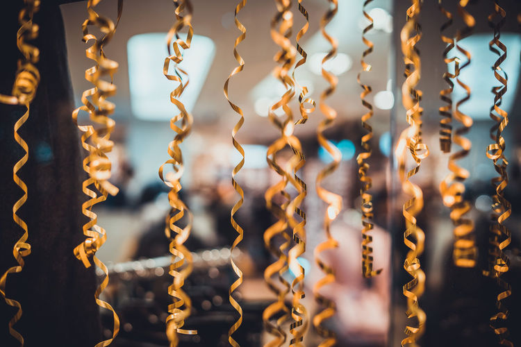 Christmas Golden Ribbon Backgrounds Close-up Curly Decoration Decorative Full Frame Hanging No People Raffia Raffia Background Ribbons Spiral EyeEm Ready   Capture Tomorrow