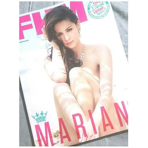 I bought this FHM magazine just because of Marian. Sizzling Hot! FHMMarchIssue MarianRivera