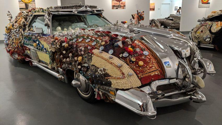 Art Car at Art Car Museum in Houston, TX Art Car Art Car Museum Art In Everything Chrome Pattern Houston Htown Htx Travel Travel Photography Travel Blogger Good Times Followme Pixelxl2 Car Vehicle Museum Art Art Museum