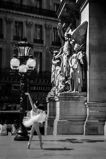 Ballerina Ballet Black & White Black And White Bnw Bnw_collection Check This Out Learn & Shoot: Balancing Elements City Lamp Day Exceptional Photographs EyeEm Gallery One Person One Woman Only Operahouse Opéra Outdoors Sculpture Statue Travel Destinations Women Ópera De Paris Women Around The World Piano Moments The Week Of Eyeem Welcome To Black Art Is Everywhere TCPM The Street Photographer - 2017 EyeEm Awards Stories From The City