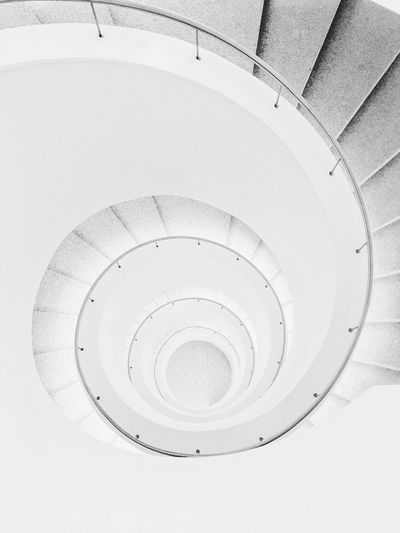 Swirl Geometric Shape Circle Shape Architecture Sport Spiral No People Built Structure Indoors  Design White Color Steps And Staircases Staircase The Mobile Photographer - 2019 EyeEm Awards