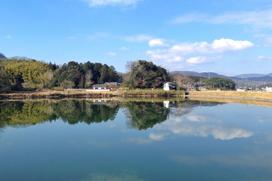 Reflection Pond Cloud - Sky Water Sky Beauty In Nature Scenics Tranquil Scene