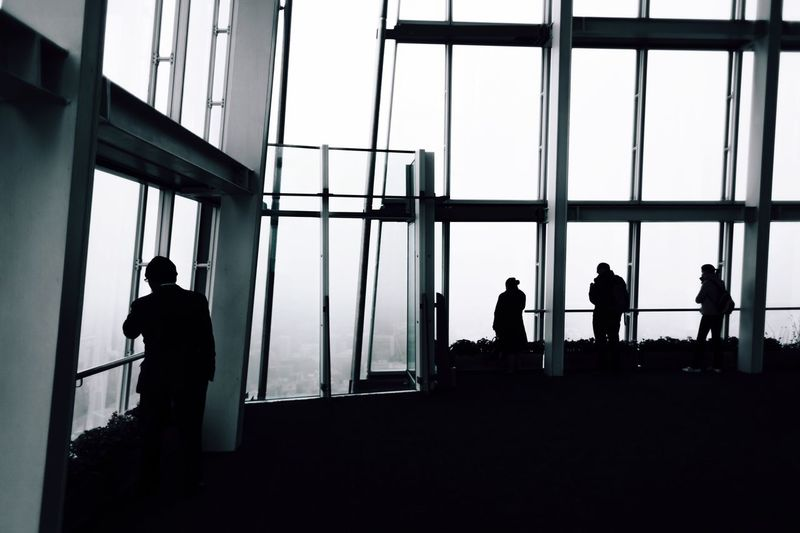Silhouette woman in dark background