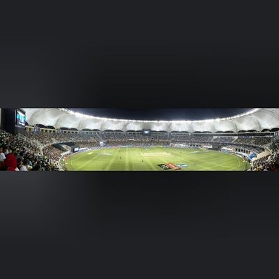 Panaromic view of the Dubai international Cricket stadium Ipl PepsiIPL Cricket
