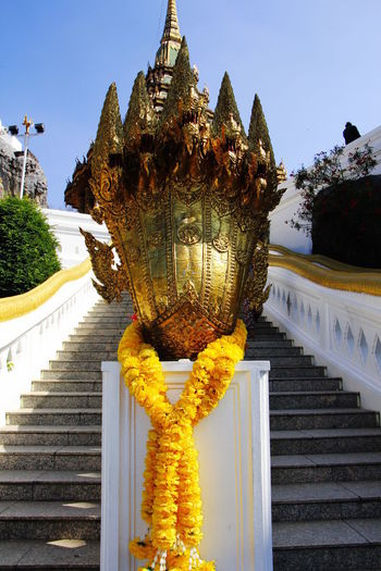 "Wat Phra Phutthabat (Thai: วัดพระพุทธบาท) is a Buddhist temple in Saraburi, is among the oldest Buddhist temples in name means ""temple of Buddha's footprint"", because it contains a natural depression believed to be a footprint of the Buddha. วัดพระพุทธบาทราชวรมหาวิหาร FootPrint Thailand Wat Phrabuddhabat, Saraburi, Thailand Buddha's Footprint Buddhist Temple สระบุรี"
