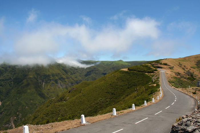 Beauty In Nature Cloud Cloud - Sky Country Road Diminishing Perspective Empty Landscape Madeira Mountain Nature Non-urban Scene Road Road Marking Scenics Sky The Way Forward Tranquil Scene Tranquility Transportation Vanishing Point