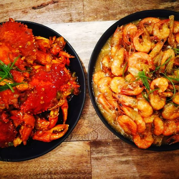 foodams Crab - Seafood Crabbing Shrimp - Seafood Shrimping Viewscape Comfort Food Table Gourmet Still Life Close-up Food And Drink Served Cooked
