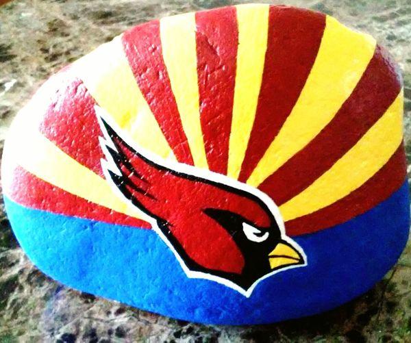 NFL Football Playoffs Arizonacardinals Go Cardinals Hometown Love Redbirds RiseUp RedSea Rockart PaintingGOOOO CARDINALS!!!!