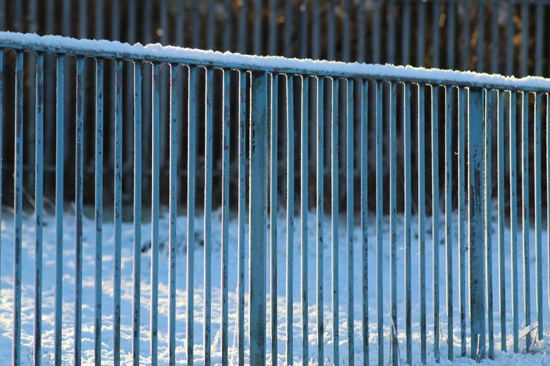 Straight lines against the snow ❄️ Pattern EyeEm Selects Metal Day Pattern No People Outdoors Close-up Textured  Backgrounds Corrugated Iron Full Frame The Graphic City The Graphic City