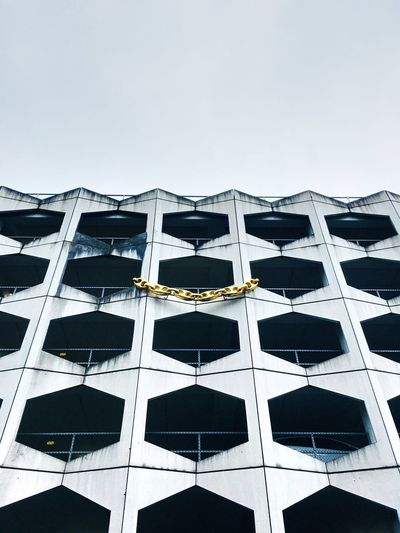 Architecture Window Building Exterior Built Structure Low Angle View No People Day Modern Clear Sky Outdoors Sky Window Washer
