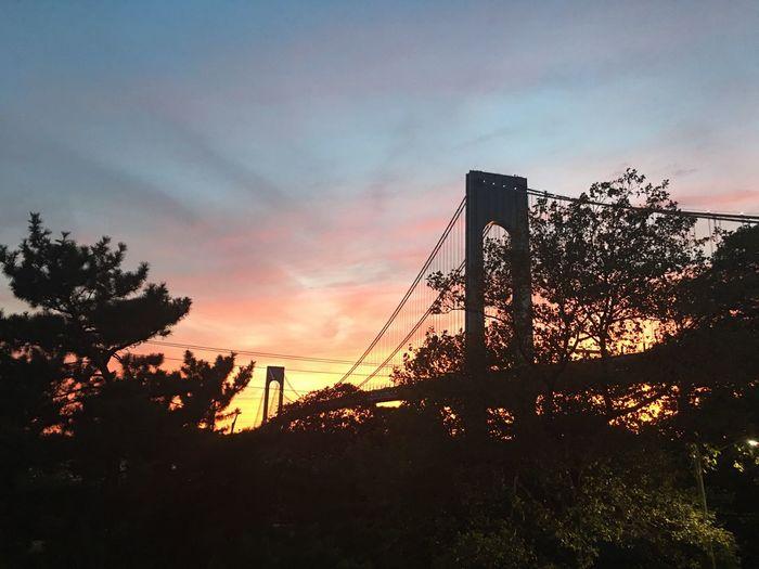 NYC Bridge Sunset