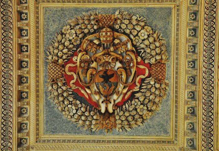 Renaissance Ceiling Decoration Villa Lante Rome on the Janiculum Hill Pattern Coat Of Arms