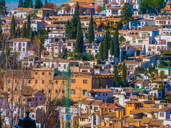 Panoramic view of granada city.