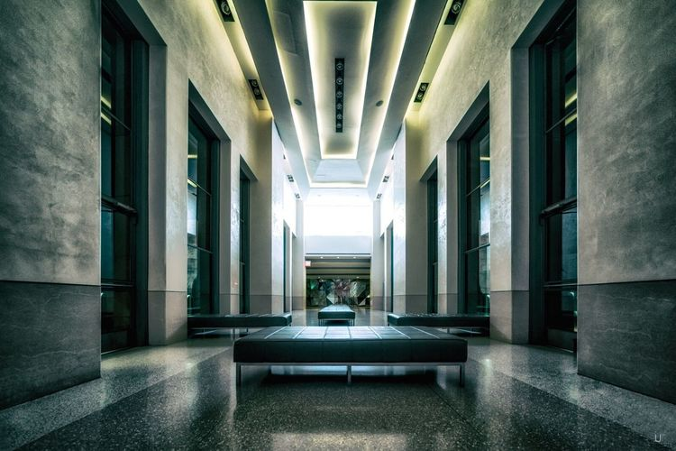WAITING ROOM by UmbertoFederico Photography - www.umbertofederico.de Indoors  Ufp Rockefeller Center Hallway Interior Design Photography