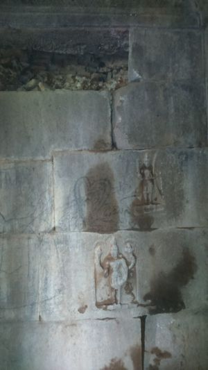 Temple Ruins: Built long ago by King Krishna Dev Rai. Architecture Backgrounds Built Structure Carving Carving - Craft Product Close-up Craft Day History Human Representation Indoors  Old Representation Sculpture Solid The Past Wall Wall - Building Feature