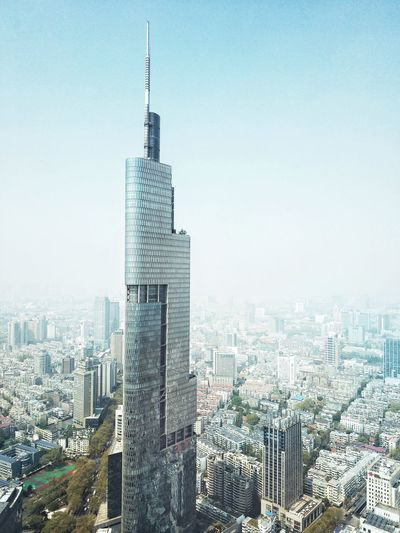 The Zifeng tower Skyscraper Landmark Building Exterior Built Structure Architecture City Building Sky Skyscraper Cityscape Office Building Exterior Tall - High Tower Modern Clear Sky Outdoors Office