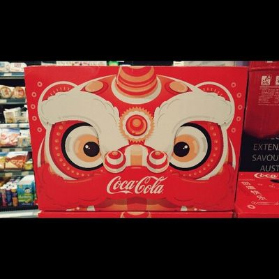 Coke Cola getting into the spirit of things I see for Chinese New Years Yearofthehorse Chinese Cokecola