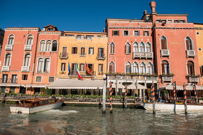 Venice, Italy Architecture Building Exterior Built Structure City Clear Sky Day Nautical Vessel No People Outdoors Sky Travel Destinations Venice Water