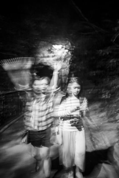 Monochrome Photography Shadow EyeEm Best Shots Blackandwhite Photography Togetherness Blurred Motion Lifestyles Casual Clothing Enjoyment Fun Young Adult Capture The Moment Young Women Enjoy The New Normal Walking