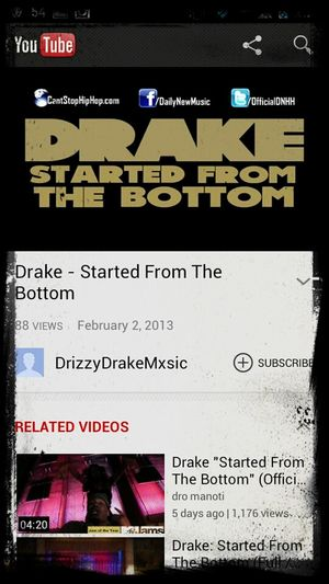 New Drake. Started From The Bottom.
