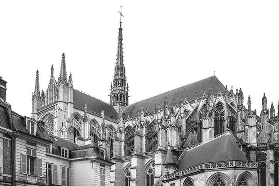 Photograhy Blackandwhite Cathedral Amiens France Architecture