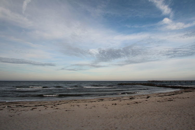 Beach mood Sea Beach Sky Water Land Scenics - Nature Beauty In Nature Cloud - Sky Horizon Tranquility Tranquil Scene Horizon Over Water Non-urban Scene Nature No People Sand Idyllic Day Remote Outdoors
