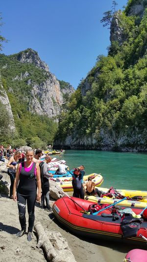 Tara Canyon Tara River Beauty In Nature Rafting Leisure Activity Extreme Sports Courage Challenge Adrenalin Sport My Hobby My Favorit Sport... Friendship Teamwork Montenegro🌊💙👈