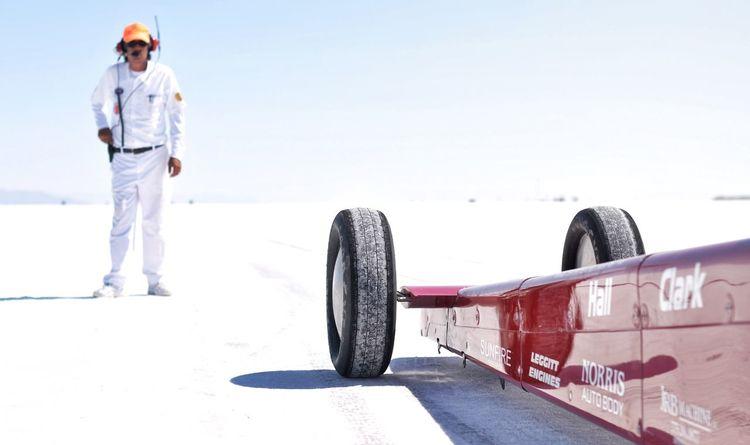 Speedweek Dragster Race Saltlakecity Bonneville Salt Flats Utah