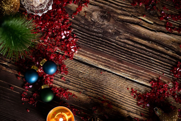 Holiday Celebration Christmas Decoration Christmas Ornament Christmas Decoration Red christmas tree Indoors  No People Tree Holiday - Event Illuminated Event Christmas Lights High Angle View Celebration Event Religion Wood - Material