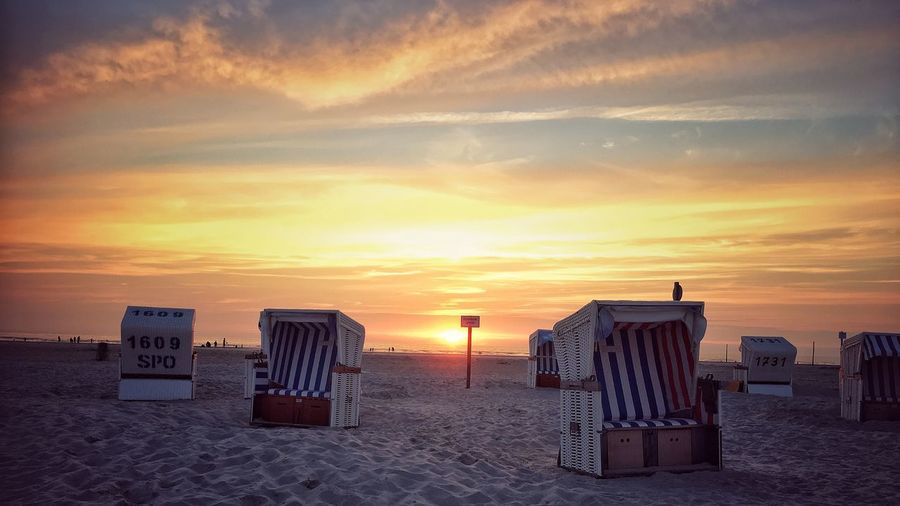 Nordseeküste Sunset Sand Vacations Sky Hooded Beach Chair Horizon Over Water Travel Destinations Landscape Taking Photos Outside Photography Beach Nordfriesland Nordsee Outdoors Photograpghy  StreetLife_Award