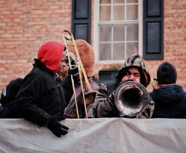 Phillylove ❤️ MummersParade2018 Real People Outdoors Men Architecture Building Exterior Day Lifestyles