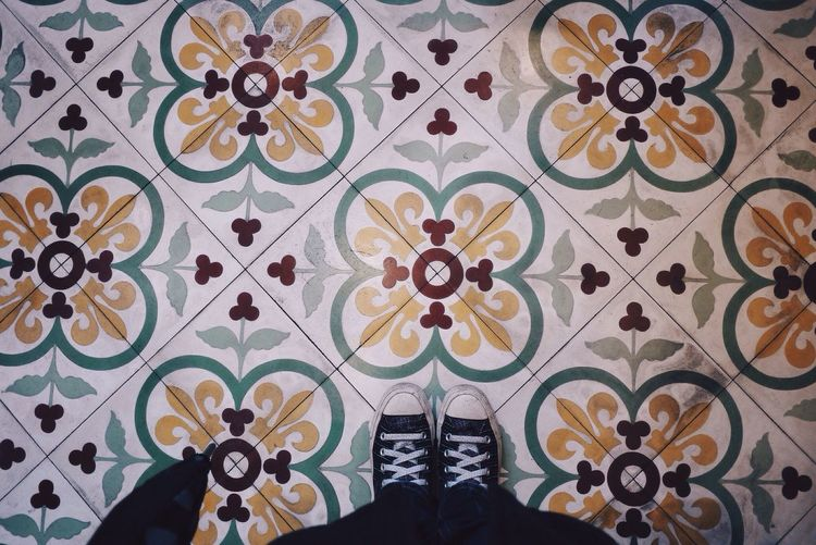 I Have A Thing With Floors Tiles Vscocam VSCO Converse