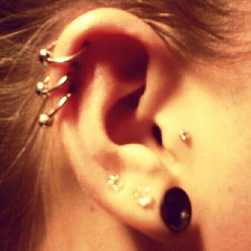 triple cartilage piercing #adriandaepiercing Adriandaepiercing