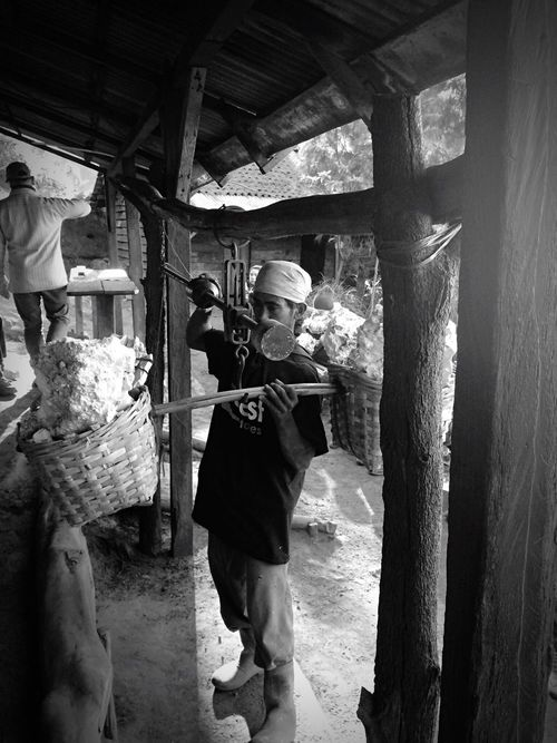 Working Weight Cash Balance Check This Out Sell Work Worker Sulfur  Sulfur Miners Blackandwhite Kawah Ijen Java INDONESIA Small Business Heroes