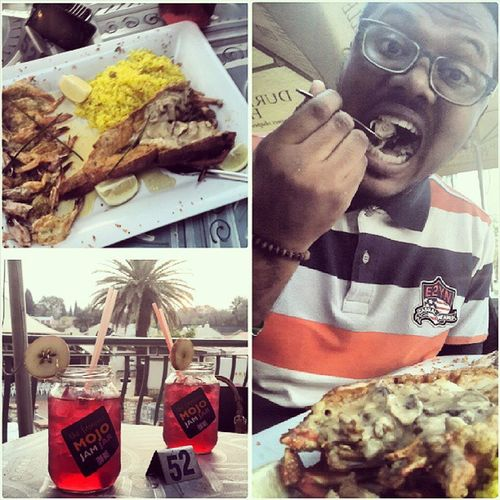 Lobster Madness Lunch Mojo jam jar queen prawns delicious seafood with @sade_lekena